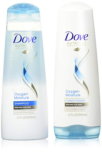 (Dove Advanced Hair Series Oxygen Moisture, Shampoo and Conditioner Set, 12 Ounce Each)