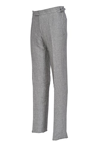 New Tom Ford Pants Men's 50R Black White,Beige Linen Regular Fit Regular Cut for sale
