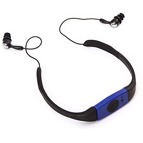 Lonve Waterproof Headphones MP3 4GB Player Sport Splash FM R