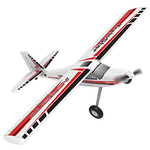 Electric R C Airplanes - VOLANTEXRC Remote Control Airplane TrainStar Ascent Electric RC Trainer Aircraft with Gyro, 1400mm Wingspan & Plastic Unibody Fuselage PNP Version NO Radio NO Battery (747-8 PNP)