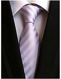Men's Classic Stripe Jacquard Woven Silk Tie Formal Party Suit Necktie