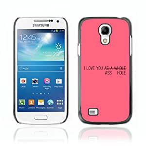 Designer Depo Hard Protection Case for Samsung Galaxy S4 Mini / Pink Message