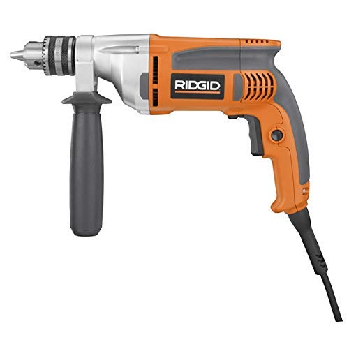 Ridgid 8-Amp Corded 1/2 in. Heavy-Duty Variable Speed Reversible Drill - (Bulk Packaged)