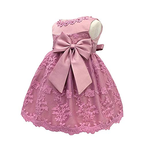 LZH Baby Girls Birthday Christening Dress Baptism Wedding Party Flower Dress (8135-Bean Power,6M)