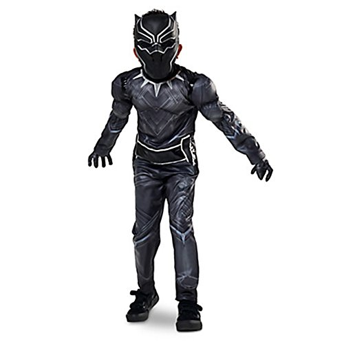 [Disney Store Little Boys Black Panther Costume 5/6 7/8 9/10 - Black (7/8)] (Black Panther Costume Marvel)