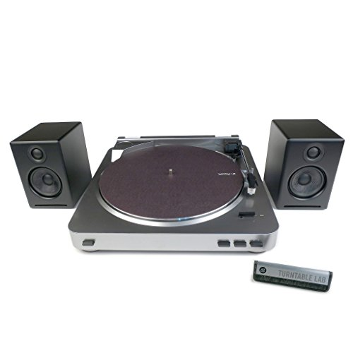 Audio-Technica: AT-LP60 Turntable + Audioengine A2+ Speaker Package - Black