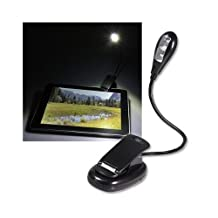 Sodial Sodial- Black Led Clip-On Reading Book Light For Apple Ipad 2 Wifi / Amazon Kindle Fire