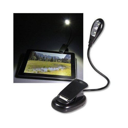 Sodial Sodial- Black Led Clip-On Reading Book Light For Apple Ipad 2 Wifi /  Kindle Fire