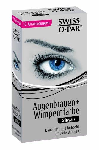 Swiss-O-Par Eyebrow and Eyelash Colour Black (Eyelash Tint Kit Blue Black)
