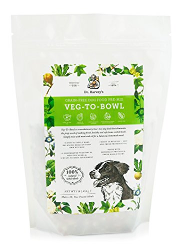 Dr. Harvey's Veg-to-Bowl Pre-Mix Dog Food, Grain Free for a Whole Food Diet (1 pound)