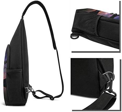 綺麗な自然 斜め掛け ボディ肩掛け ショルダーバッグ ワンショルダーバッグ メンズ 多機能レジャーバックパック 軽量 大容量