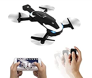 Drones with Camera Wifi 720P HD FPV for Selfie Live Video,Mini RC Inserted in Quadcopters,4CH 2.4Ghz 6 Axis,Follow me Altitude Hold Headless Dual Modes for Beginners Professionals Bonus Battery from le-idea