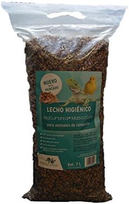 Corcho granulado Natural para Jaulas de Pájaros, Roedores y Reptiles, 7 Litros