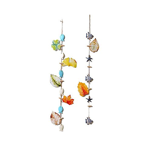 (Ya Jin 1 PC Mediterranean Style Resin Starfish Seafish Hanging Decor with Wooden Clip for Wedding Party Picture Wall Room Home Decoration (Seafish pattern))