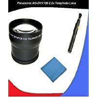 Panasonic AG-DVX100(B) 2.2x High Definition Telephoto Lens (72mm) Made By Optics + DIGI Micro Fiber Cleaning Cloth + Pro Lens Cleaning Pen.