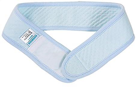 Kingken cómodo ajustable algodón pañales hebilla bebé cuidado pañales fijo cinturón (azul)