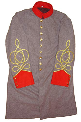 - 10Code US Civil War Confederate Artillery Captain's Frock Coat (52) Grey