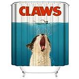 A&S Creavention Bathroom Custom Cat Design Shower Curtain 70' x 70' Standard Size, 1pc (Claws)