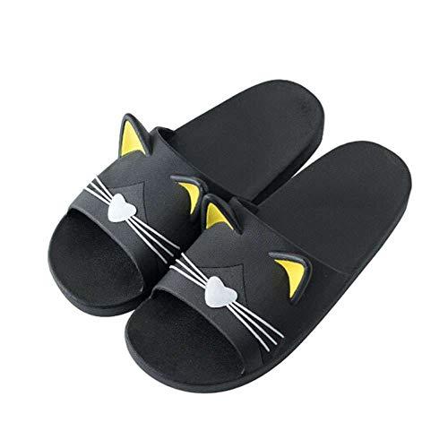 (Men Shower Slippers Cat Ears Indoor Outdoor Beach Bath Women Slides Sandals )