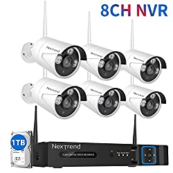 Wireless Security Camera System Nextrend 8ch Ip Security System 1tb Hard Drive 6pcs 960p Outdoor Security Cameras Clear Night Vision Easily Remote Access Security Camera System