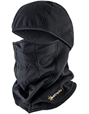 AstroAI Ski Mask Winter Balaclava Windproof Breathable Face Mask for Cold Weather (Superfine Polar Fleece, Black)