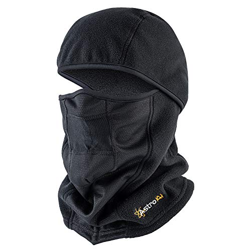 AstroAI Ski Mask Balaclava Warm Face Mask - Polar Fleece Windproof/Breathable/Cold Protection/Insulated Full Face Cover for Men Women Skiing, Motorcycle, Snowboarding