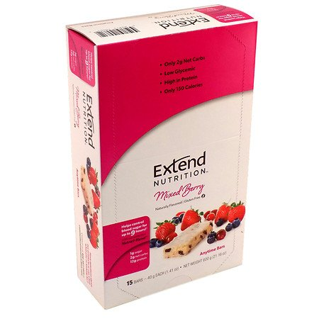 Extend Nutrition Bars Mixed Berry Delight - 3PC by Extend