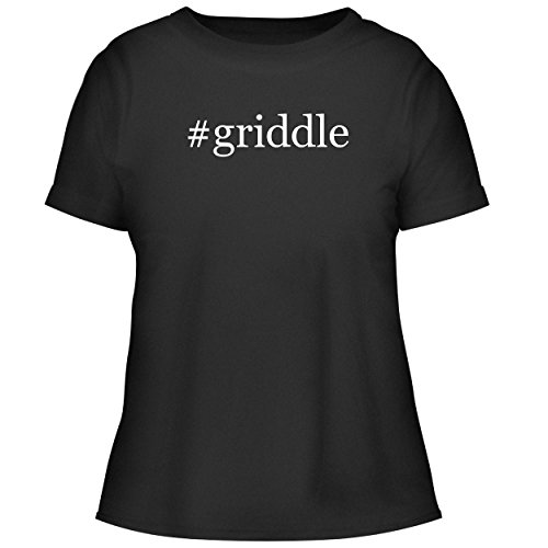 BH Cool Designs #Griddle - Cute Women's Graphic Tee, Black, ()