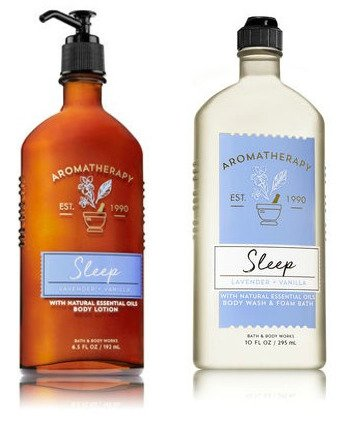Bath & Body Works Aromatherapy Sleep - Lavender + Vanilla Body Lotion, 6.5 Fl Oz + Body Wash & Foam Bath, 10 Fl - Works Lavender Body And Bath