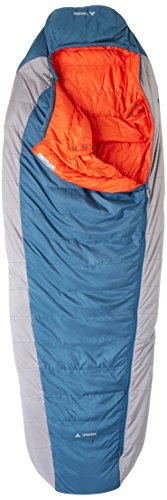 VAUDE Cheyenne 500 - Lightweight & Comfortable Down Sleeping Bag - Mummy Shape - Perfect for Backpacking, Hiking and Camping - 3 Season for Spring to Autumn Use - Baltic Sea ()
