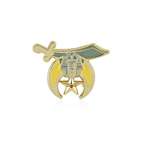 Shriner: Noble of the Mystic Shrine (Scimitar, Crescent and Star) Freemasonry/Masonic Lapel Pin