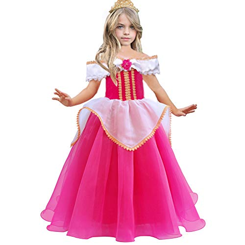 Sleeping Beauty Princess Aurora Costumes Girls Puffy Ball Gown Pageant Party Dresses Cosplay]()