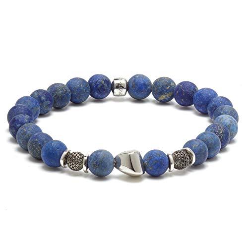 Tateossian Men's Nugget Blue Lapis Beaded Bracelet, Large 19cm