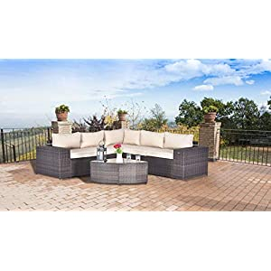 41Y80Wuu6kL._SS300_ Wicker Patio Furniture Sets