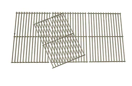 Grill Parts Gallery Stainless Steel Coking Grates for Select Brinkmann 810-1525-0, 810-3660-S, 810-3661-F, 810-6631-F, 810-6680-S, 810-7541-B, 810-7541-W, 810-8445-F, 810-8445-N Gas Models, Set of - Bass Grill Steel Stainless Pro