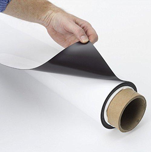 Breite 615x2,1 mm Laufmeter Magnetfolie wei/ß beschichtet