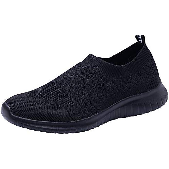 TIOSEBON Men's Casual Walking Shoes Knit Running Slip-on Sneakers