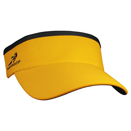 Headsweats Supervisor Sun/Race/Running/Outdoor Sports Visor, Yellow, One (Athletic Mesh Visor)