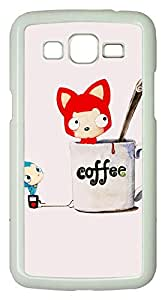 Samsung Galaxy Grand 2 7106 Cases & Covers - Coffee Tanuki PC Custom Soft Case Cover Protector for Samsung Galaxy Grand 2 7106 - White