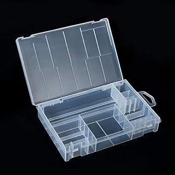 DealMux 33 Estuche de Almacenamiento del Organizador de batería, Soporte de la Caja de baterías Contenedor de plástico Transparente Portátil: Amazon.es: Electrónica