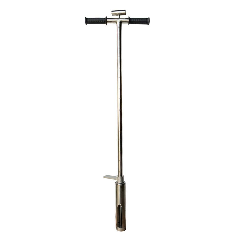 INTBUYING Soil Probe Sampler with Sample Ejector Stainless Steel Gator Step Tube 2'' Diameter