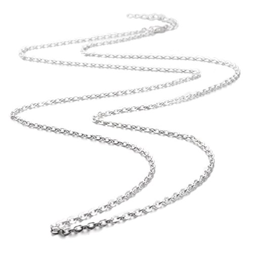 Eudora Harmony Bola Accessories Silver Plated Chain/ Wax Leather Cord 45 Inches - Time Usps Shipping Express