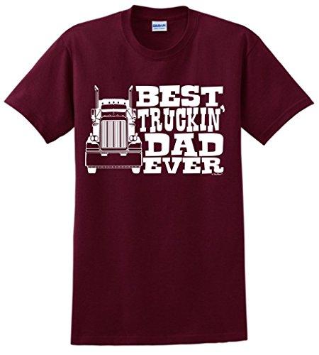 Dad Gift Best Truckin' Dad Ever Truck Driver T-Shirt 2XL ()