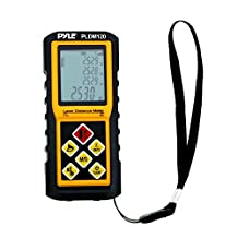 Pyle-Pro PLDM300-Digital Handheld Distance Laser Measure-300-Feet Max Rangefinder Measuring Tool with Backlit Display-Built in Area and Volume Calculator and Indirect Measuring Capability