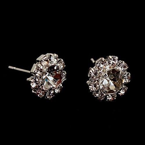Charm Flower Jewelry Cubic Sunflower Crystal Rhinestone Earrings Ear Stud