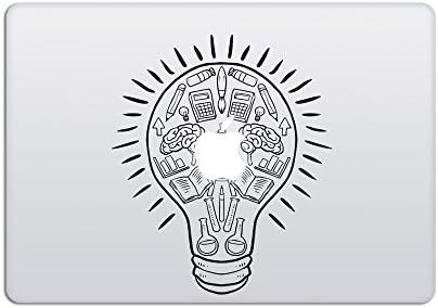 Light Bulb circle light cover Apple MacBook  Laptop Decal sticker