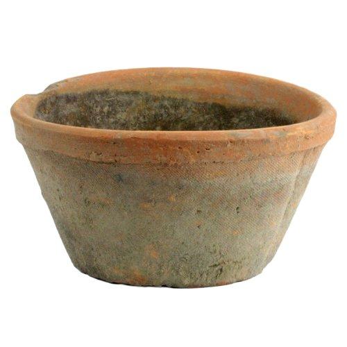 HomArt 7702-0 Rustic Terra Cotta Oval Pot, Medium, Antique Red, 1-Count