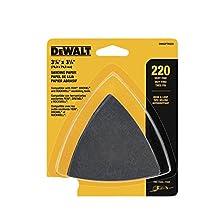 Dewalt Dwasptri223 12/Pk Hook & Loop Triangle 220 Grit Sandpaper(Sold By 2 Pack)
