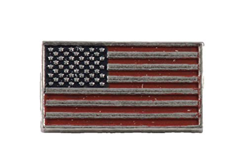 Creative Pewter Designs American Flag Profile Hand Painted Lapel Pin, Brooch, Jewelry, AP170