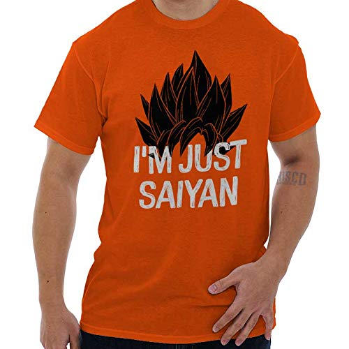 Just Saiyan Cute Shirt Goku Gift Dragon Idea Ball Z Cool Edgy T-Shirt Tee